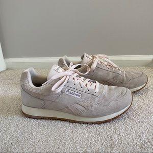 Blush Suede Reebok Sneakers